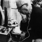 """Gianni Bosio, al """"Maggio"""" di Costabona, 1967 - Foto di Clara Longhini"""