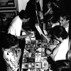 InCanto 1997 - Banchino al concerto dei Baraban, con Lia Quercioli, Stefano Arrighetti, Luciana Pieraccini, Eurosia Bertoletti, Gaetano Licciardi - Foto di Angela Chiti