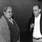 InCanto 2001 - Ivan Della Mea e Antonio Tabucchi - Foto di Angela Chiti