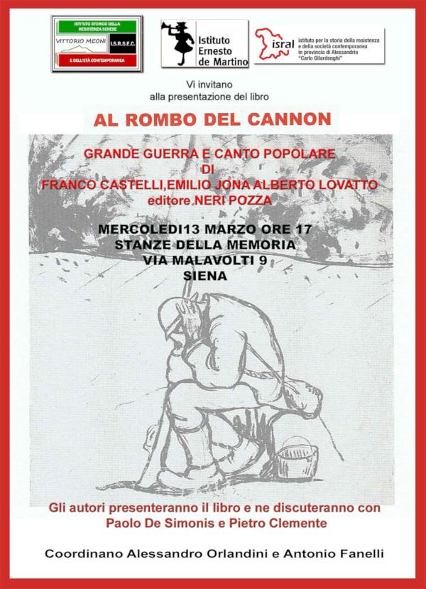 Al rombo del cannon - Siena 13 marzo 2019 - Manifesto