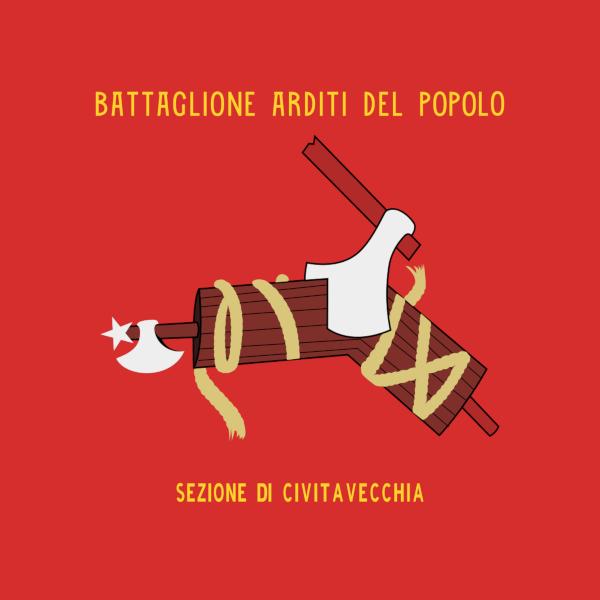 Bandiera del battaglione arditi del popolo - sezione di Civitavecchia