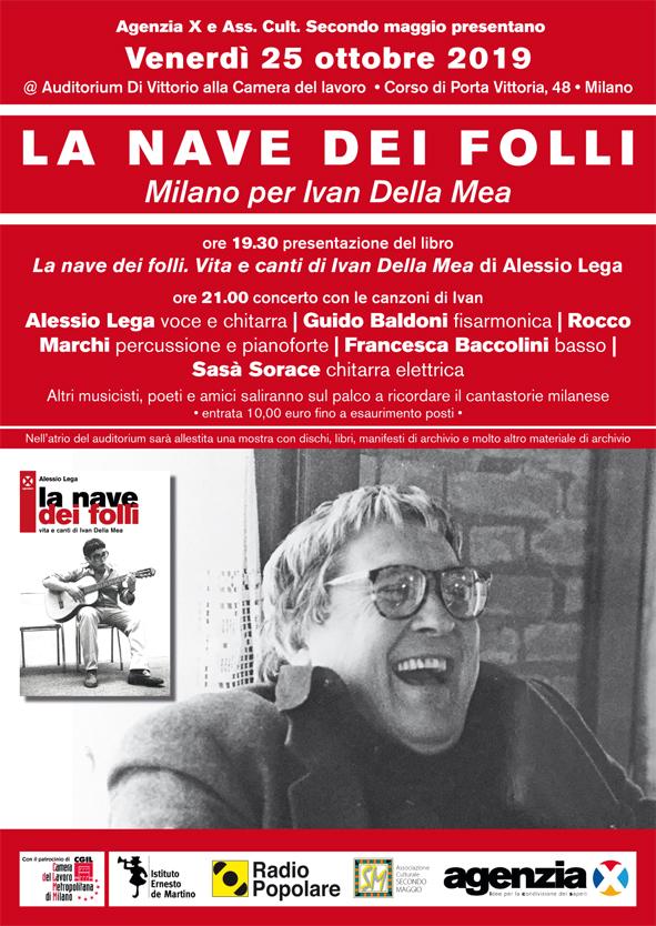 Milano per Ivan Della Mea - Volantino