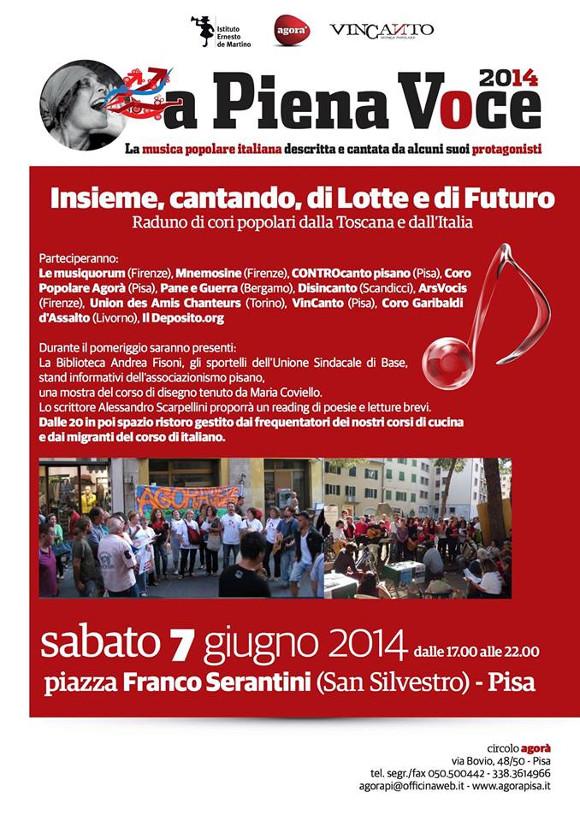 "Volantino ""A piena voce"", 7 giugno 2014"