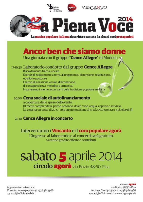 A piena voce 2014 - 5 aprile - Cence allegre