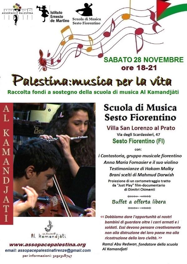 Locandina Palestina: musica per la vita