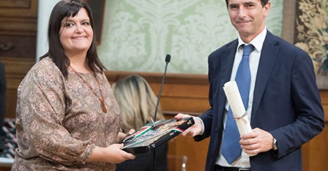 Mariamargherita Scotti premiata al Matteotti