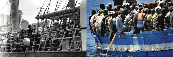 Migranti italiani e africani