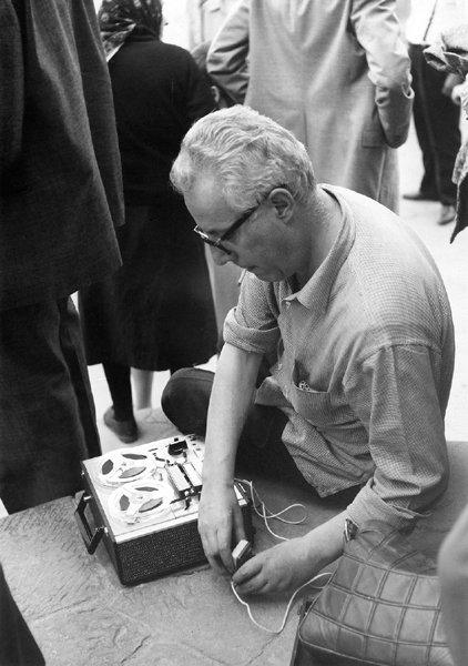 Gianni Bosio - Lucignano, luglio 1967 - Foto di Clara Longhini